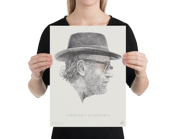 Francesco De Gregori | portrait | illustration | high quality printing | artwork on poster