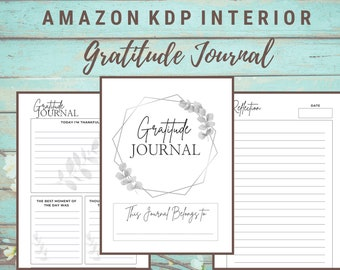 KDP Interior Gratitude Journal  | 6x9 inches (with bleed) | Commercial Use | Ready to Upload PDF