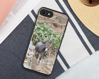 "iPHONE Biodegradable phone case ""Greek Donkey"""