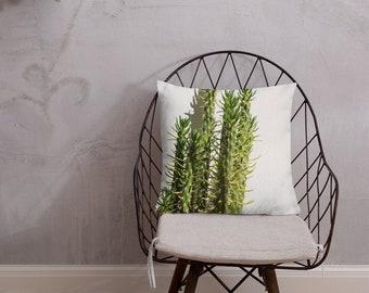 """Premium Pillow """"Greek Cactus"""""""