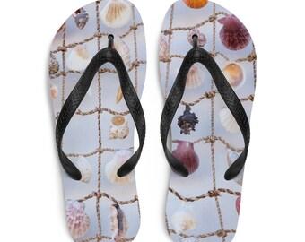 """Flip-Flops """"Greek Shells"""""""