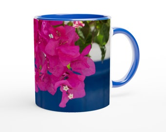 """Ceramic Mug """"A Cup of Summer""""-- Made with eco-friendly paint"""