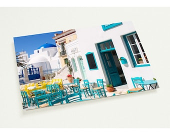 """Pack of 10 cards """" Serifos Cafe Life"""" (2-sided, white envelopes)"""