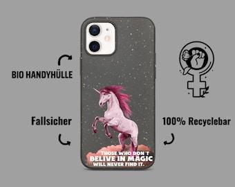 Einhorn Bio Handyhülle Feminismus / Biologisch abbaubare Handyhülle / Polaroid handyhülle / iPhone Hülle