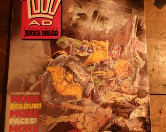 2000AD Ft Judge Dredd Comic Classic Collectable Vintage Artwork 1988 *Pick Issue* Retro Issues 589-599