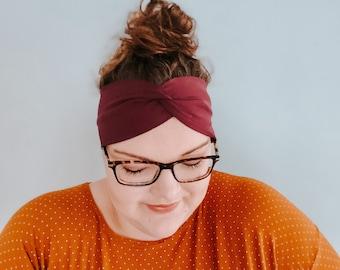 Headband ladies wide in plum / purple // Miss Frieda