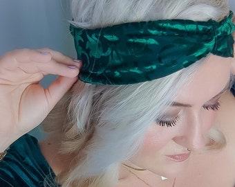 Noble headband with velvet details for women / Accessory for festive occasions / Miss Frieda