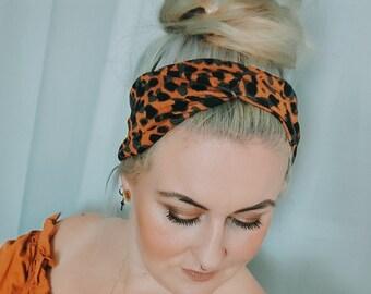 Leo hairband narrow in copper for women / Miss Frieda