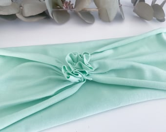 Headband wide with gathering in mint / single layer / Miss Frieda