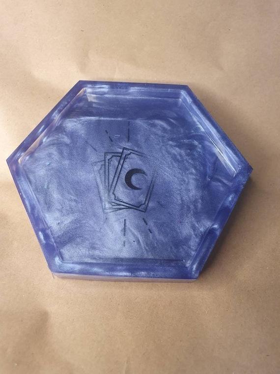 Medium Handmade Resin Dice Tray with decal.