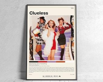 Clueless | Amy Heckerling, Minimalist Movie Poster, Vintage Retro Art Print, Custom Poster, Wall Art Prin, Home Decor
