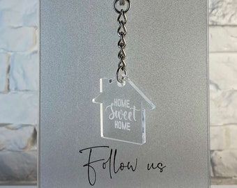 Personalized Keychain   Laser Engraved   Engraved Acrylic Keychain   Gift For Mom & Dad