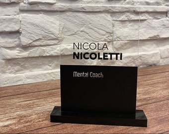 Custom plex name sign personalized with 3d letters for office desk reception hotel guest book table