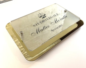 Legal office plate    Plexiglass plate for office    Attorney plate