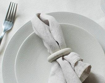 Rond de serviette - teinte 1 Albâtre