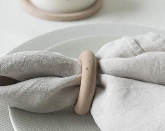 Rond de serviette - teinte 2 Opaline