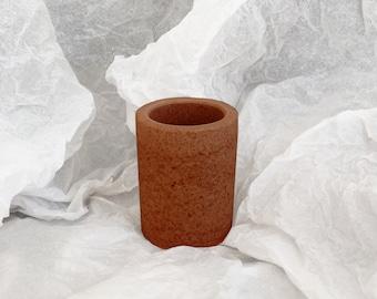 Grand pot à crayon - teinte 4 Terracotta