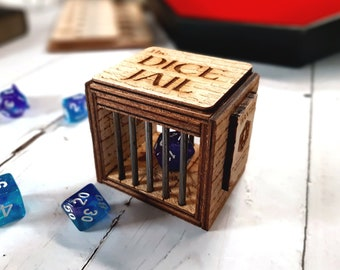 Dice Jail - Role Playing Tabletop Game Accessory - Dungeons and Dragons gift - Dice Purgatory - D&D