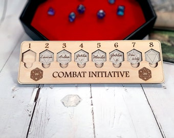 Initiative Tracker 8 - Tabletop - for D&D and Other Tabletop RPG Games