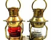 Anchor Oil Lamp, Nautical Maritime Ship Lantern, Home Office Decor gift Vintage Replica