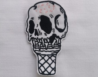 Skull ice cream - patch, aufbügler, patch, ironing pattern, ironing patching, patching, patches