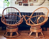 2 Pics Vintage Wicker Rattan BOHO chair Natural Wicker Rattan Furniture Balcony Bamboo Armchair Rattan Chair