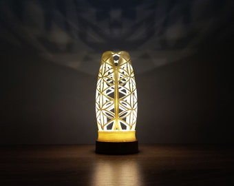 Resin desk lamp