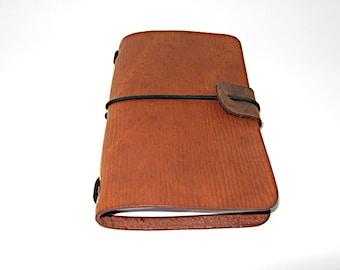 Midori Field Notebook style for (9x14cm, 3 1/2x5 1/2 Notebook) Buckskin wave leather