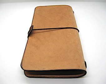 """Leather Midori style Traveller's Notebook for (11x21cm, 4 1/4 x 8 1/4"""") Multiple Colors"""