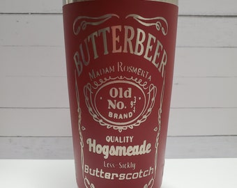 Laser Engraved Yeti - Wizard - Butterbeer - Inspired 20oz Tumbler with Lid