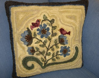 """Flower Song Rug Hooking Pattern - Digital Download  - (Copyright Protected! - Please See """"FAQs"""" For Copyright Details)"""