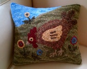Penny Flower Chicken Rug Hooking Paper Pattern - (Copyright Protected - Please See quot FAQs quot For Copyright Details)