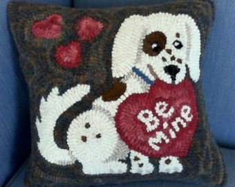 """Be Mine Rug Hooking Pattern - Digital Download - (Copyright Protected! - Please See """"FAQs"""" For Copyright Details)"""
