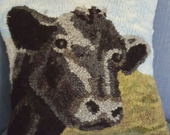 """Cow Rug Hooking Pattern - Digital Download - (Copyright Protected! - Please See """"FAQs"""" For Copyright Details)"""