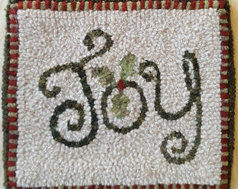"""Joy Rug Hooking Pattern - Digital Download - (Copyright Protected! - Please See """"FAQs"""" For Copyright Details)"""