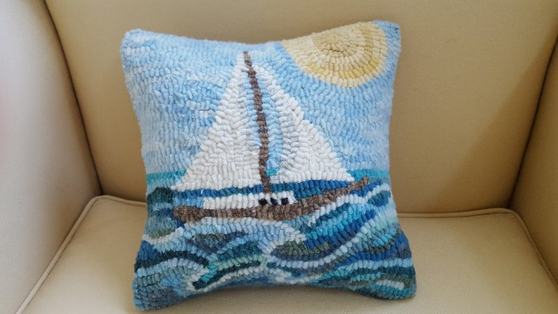 Come Sail Away Rug Hooking Paper Pattern  Copyright image 0