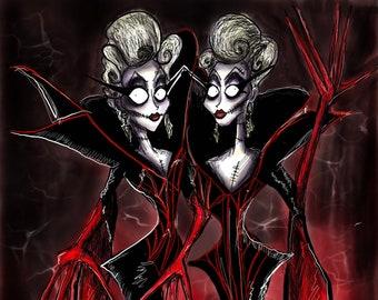 Boulet Brothers Dragula Promo Gothic Style Drawing