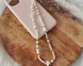 Phone Jewelry | Customizable phone jewel| Grigri | Phonestraps | Laptop cord | Gift idea| Golden Star Model