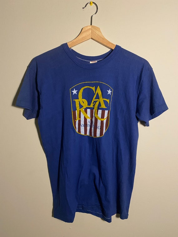 """Vintage 1970s/80s Russell """"AAU Swimming"""" Blue Sin… - image 1"""