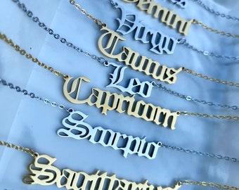 libra necklace silver
