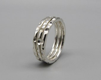 Ripples & Reflections Silver Stacking ring