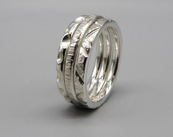 Rijper Silver Stacking ring