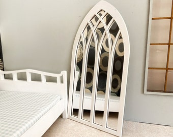 Dollhouse Mirror and frame for classic styles. Window frame or mirror 1:6  Scale Unfinished, Black, White or Gold