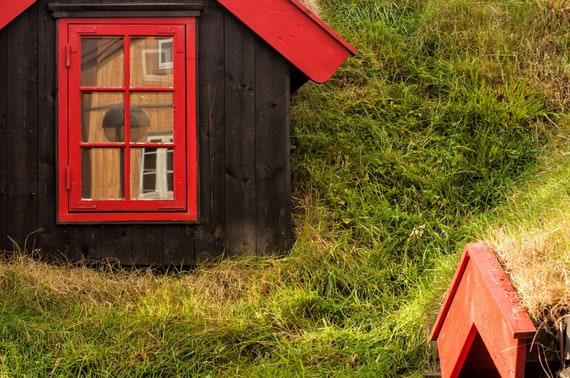 Grass roofs in the Faroe Islands