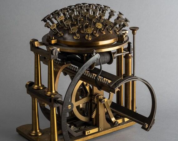 The Malling Hansen Skrivekugle Typewriter