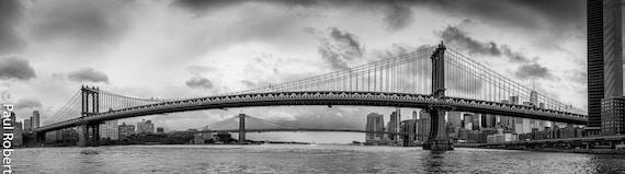 Two Bridges Panorama, New York