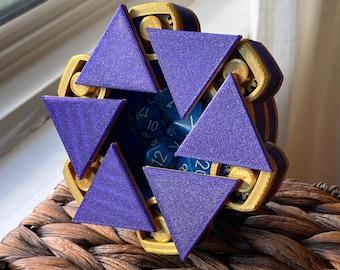 Mechanical Dice Box - Purple and Gold