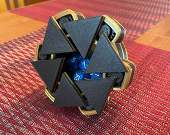 Black and Gold Mechanical Dice Box