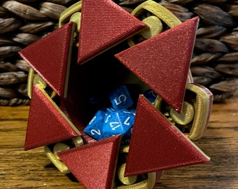 Mechanical Dice Box - Red and Gold