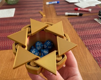 All That Glitters Dice Box - Gold